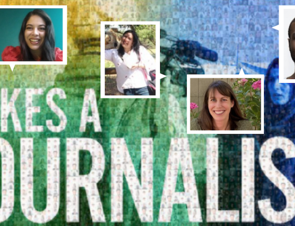 ICFJ Network Photo Mosaic featuring four journalists